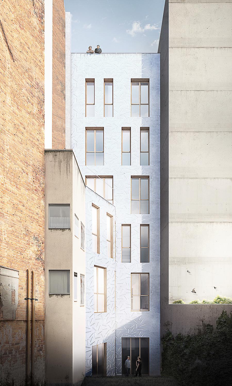 AB Arquitectos — Courtyard facade, Barcelona (ES)